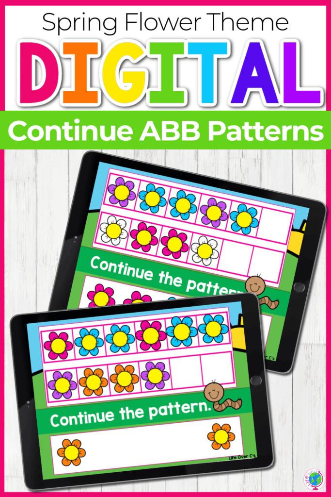 Spring Flower Theme Digital Continue ABB Patterns
