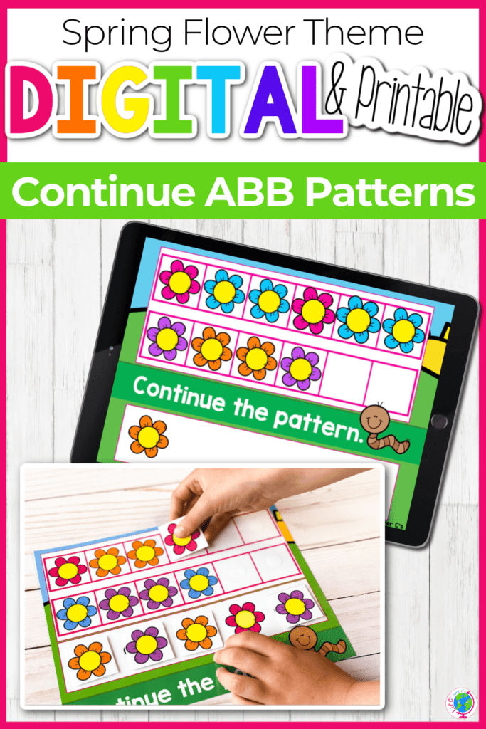 Spring Flower Theme Continue ABB Patterns