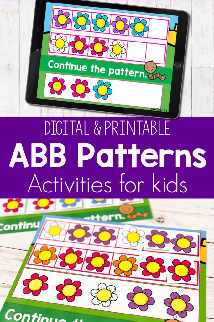 Digital ABB Patterns Activities for Kids