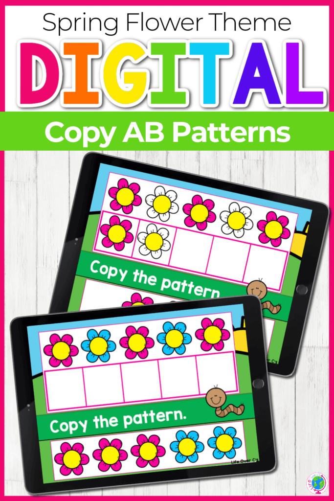 Spring Flower Theme Digital Copy AB Patterns