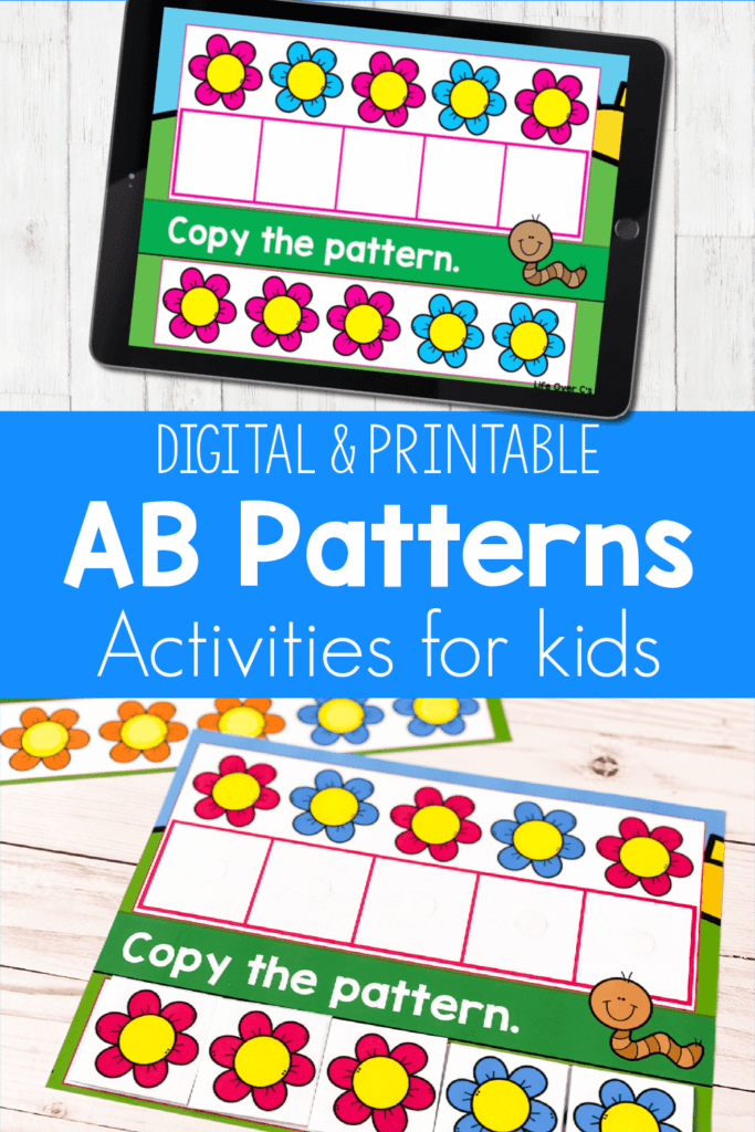 Free AB Patterns Activities for Kids