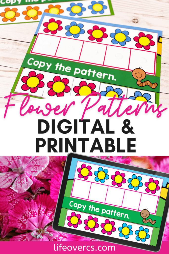 Flower Patterns Digital and Printable Activities