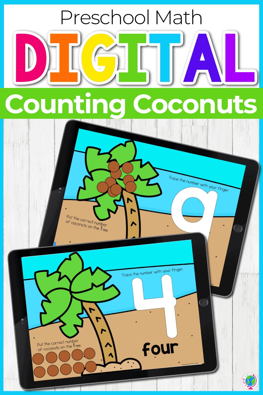 Preschool Math Digital Counting Activities