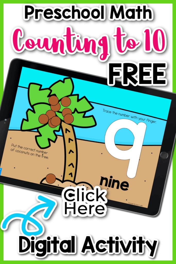 Counting to 10 Digital Activities for Preschoolers