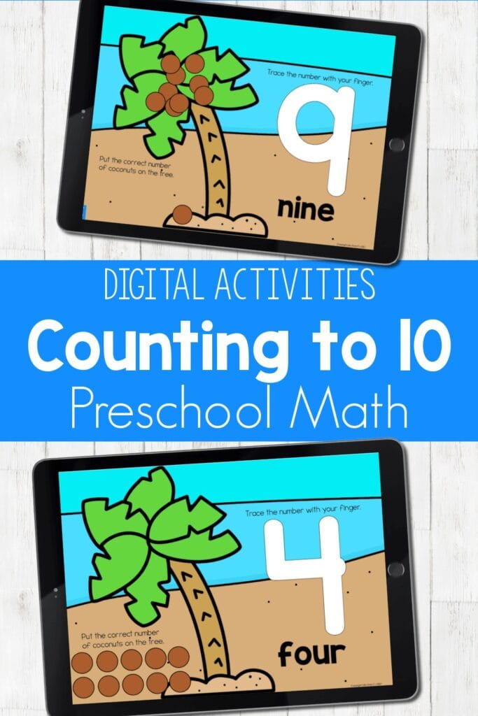 Counting To 10 Digital Activities