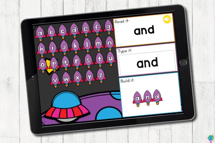 Digital Sight Words activity for preschoolers.